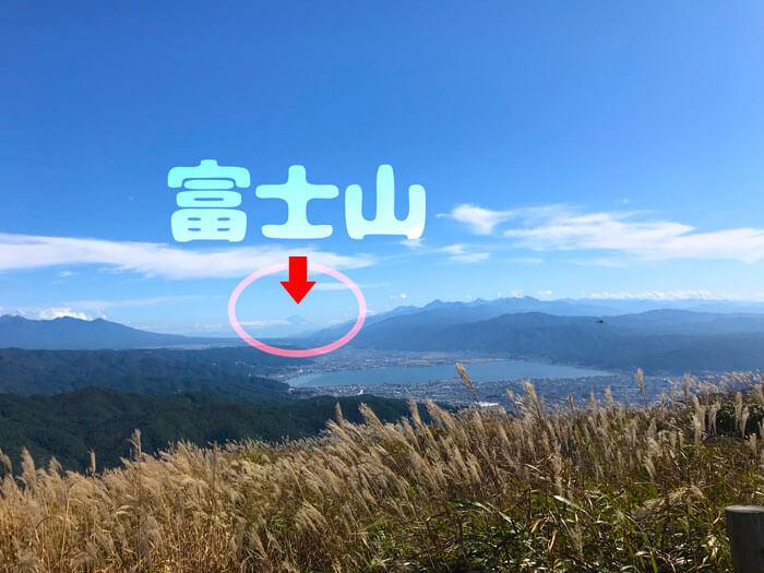 高ボッチから富士山