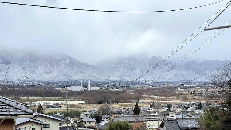 長野安曇野雪
