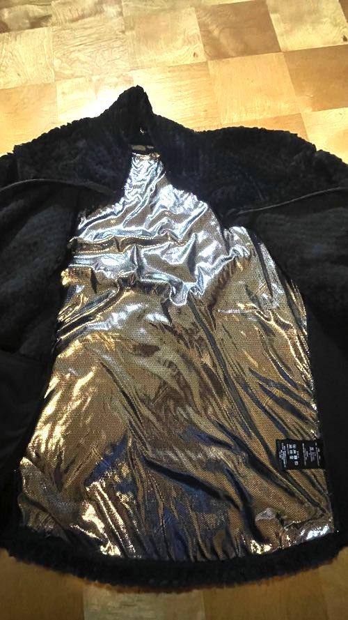 ダイヤフリース裏アルミジャケット黒