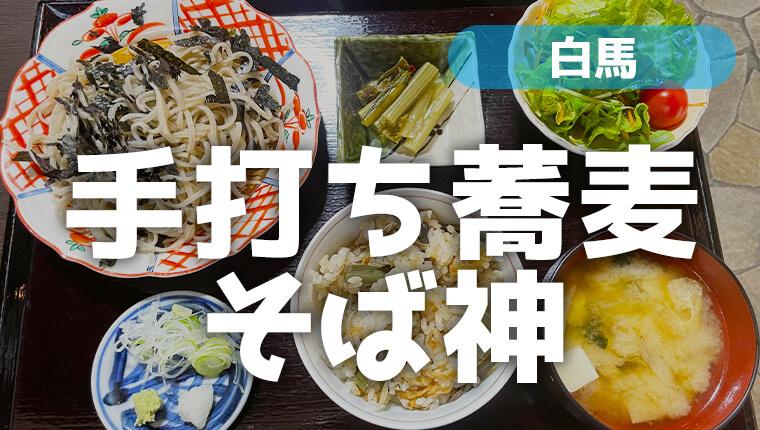 白馬の手打ち蕎麦「そば神」でそば・天ぷら・もつ煮を食す!